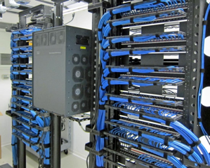 commercial building CAT 6 cabling installation in Pomona