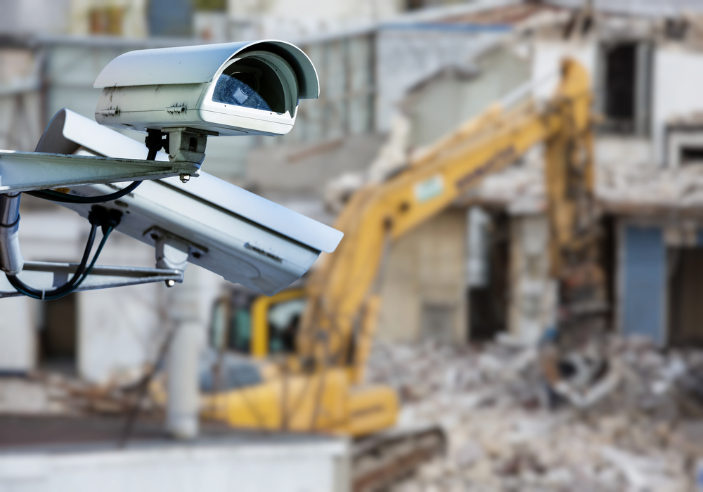 Professional Construction Site Security Camera System Installation Service Repair in Rialto